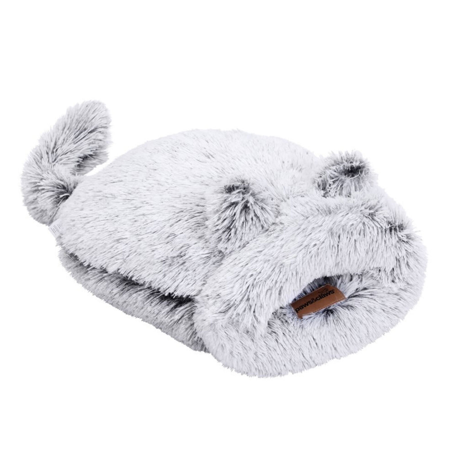 Paws & Claws 50x50cm Calming Cat/Pet/Kitten Plush Washable Snuggler Bed Grey