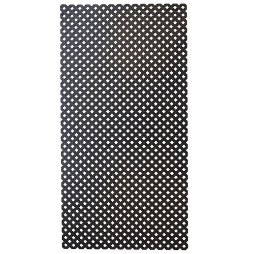 Matrix 2410 x 1205 x 5mm Charcoal Plastic Reeded Diamond Lattice