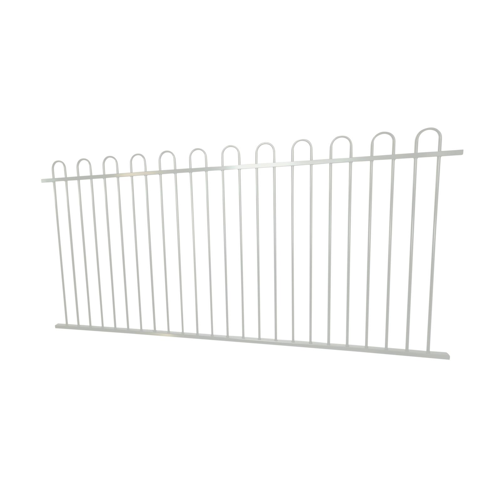 Protector Aluminium 2450 x 1200mm Loop Top Ulti-M8 Fence Panel - Pearl White