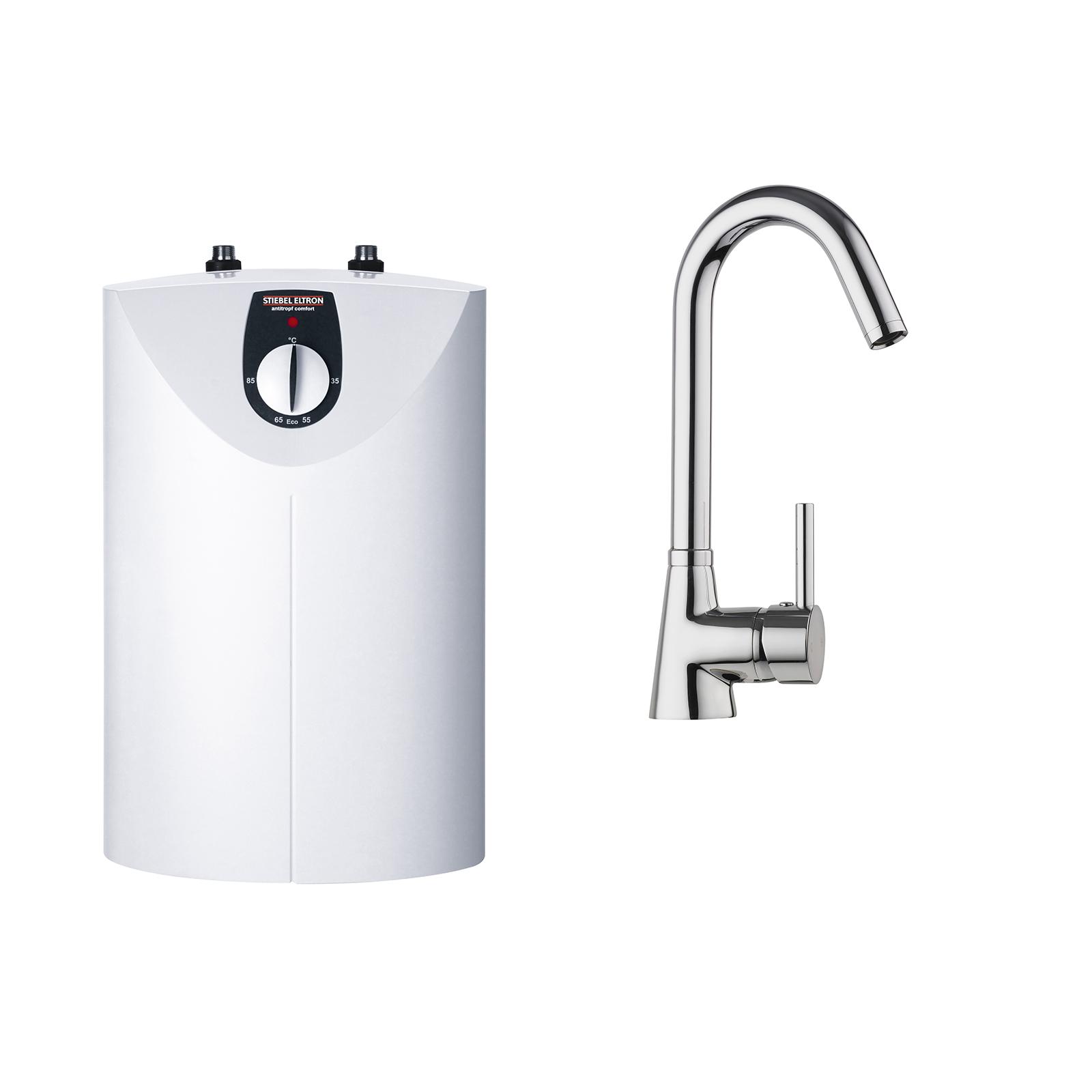 STIEBEL ELTRON SNU 5 Open Vented Water Heater With MES-G Gooseneck Tap