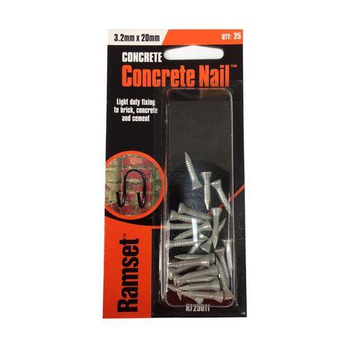 Ramset Concrete Nail  3.2 x 20mm 25pk