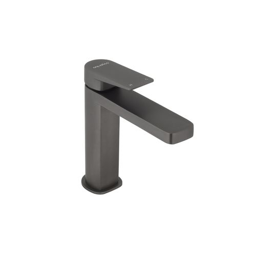 Aquatica Metalique Gun Metal Basin Mixer - Suitable For Unequal / Mains Pressure