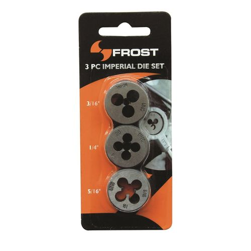 Frost 3 Piece 3/16-1/4-5/16 Imperial Die Set