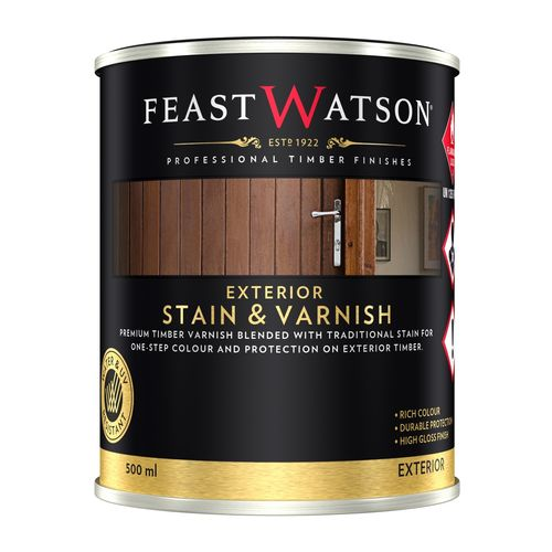 Feast Watson 500ml Exterior Black Japan Stain And Varnish