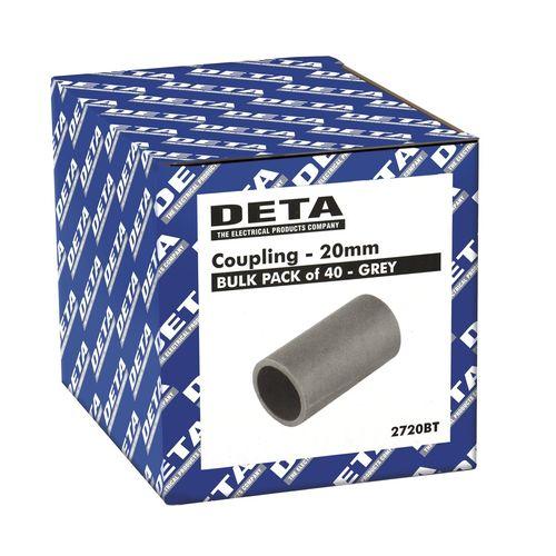 Deta Conduit Coupling 20mm 40pk