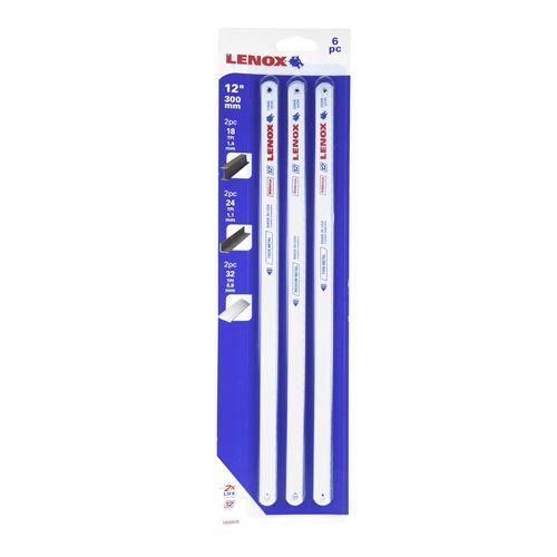 """Lenox 12"""" / 300mm Hacksaw Blades - 6 Pack"""