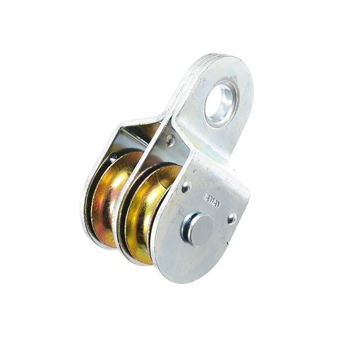 Zenith 38mm Zinc Plated Fixed Double Pulley