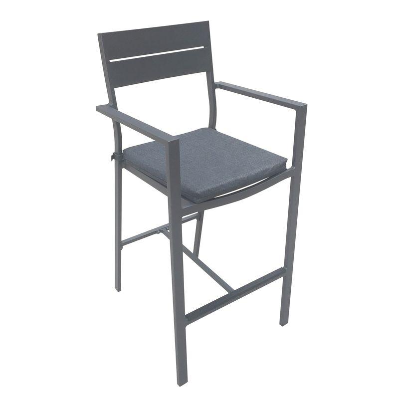 Aluminium Lava Bar Chair with Cushion