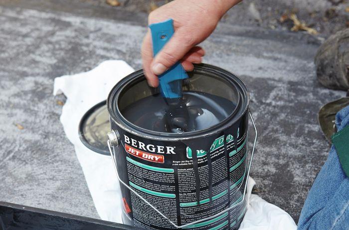 DIY Step Image - How to paint a concrete driveway . Blob storage upload.