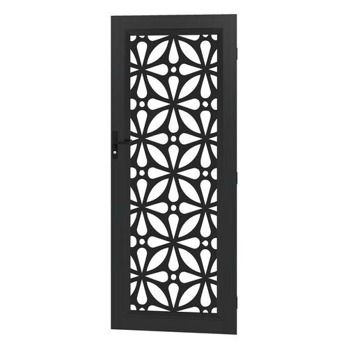 Protector Aluminium 813 x 2032mm Black Profile 12 Metric Deco Barrier Door