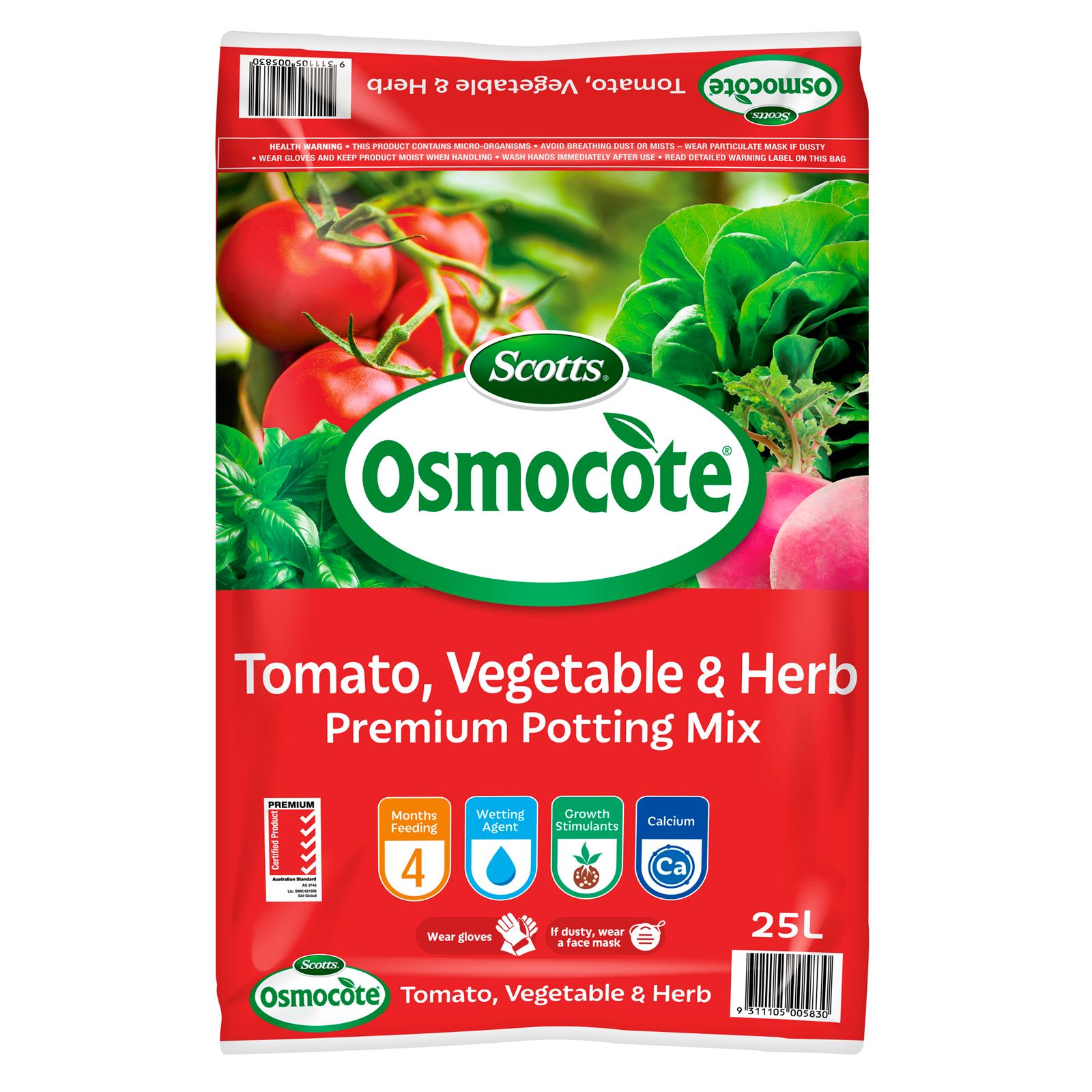 Scotts Osmocote 25L Tomato, Vegetable & Herb Premium Potting Mix