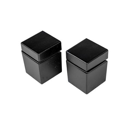 Flexi Clip 5-22mm Cube Matt Black Shelf Clip - 2 Pack