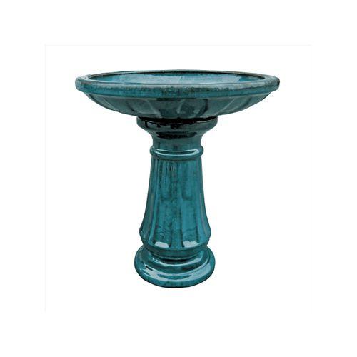 Northcote Pottery 52 x 52 x 60cm Forest Green Primo Miami Bird Bath