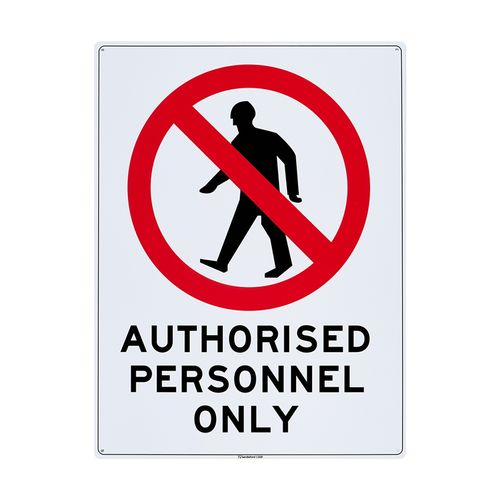 Sandleford 450 x 600mm Authorised Personnel Only Plastic Sign