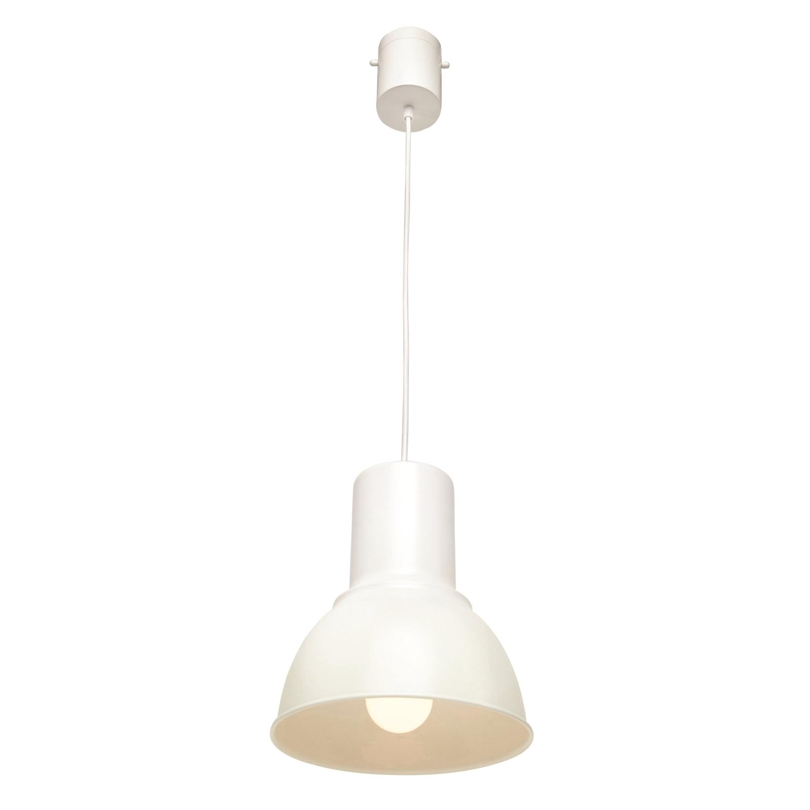 Brilliant 23cm White Hugo DIY Plug-In Metal Industrial Pendant Light