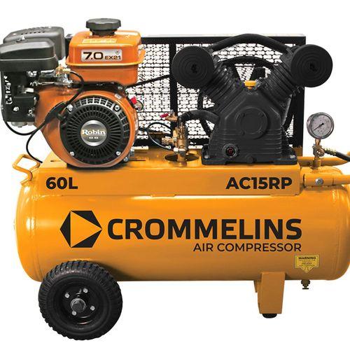 Crommelins 6HP 60L 15.2CFM Petrol Air Compressor