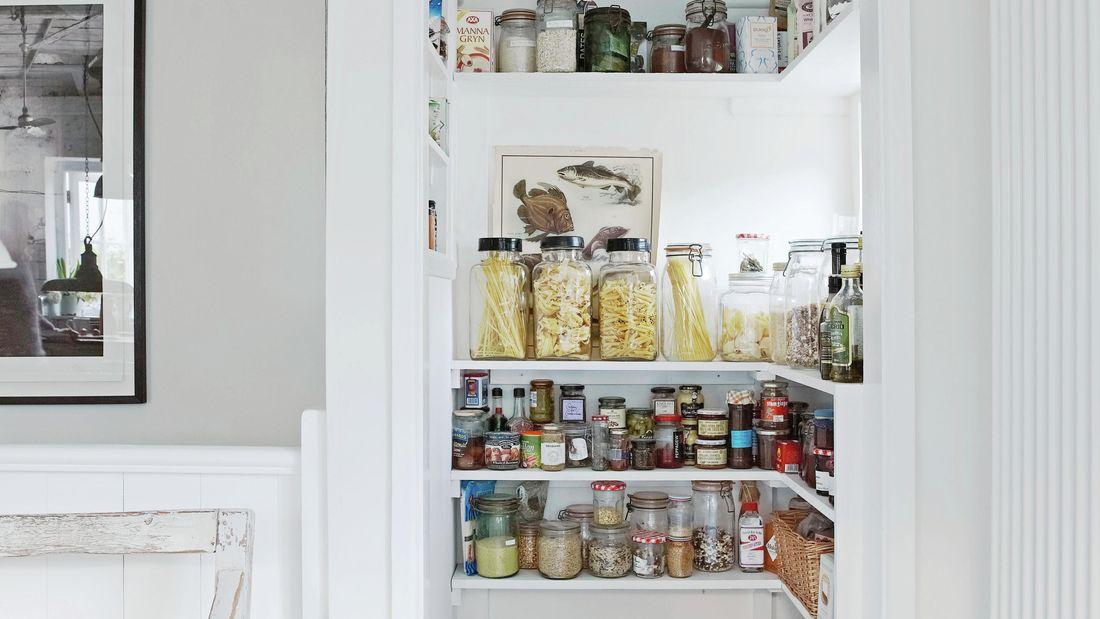 A well organised pantry in situ