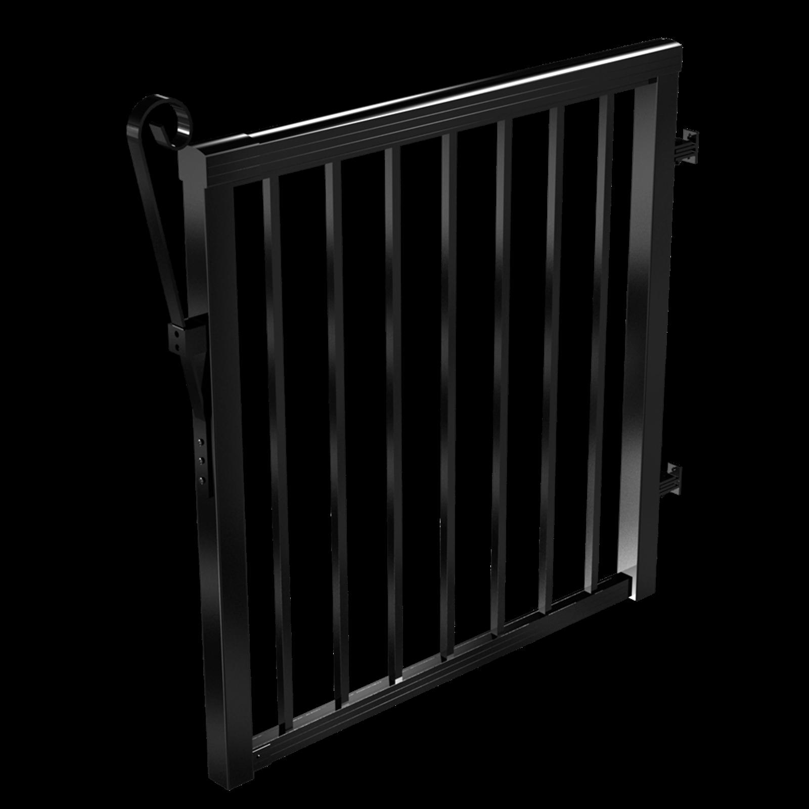 Peak Products 1000mm Black Aluminium Balustrade Standard Baluster Gate Kit