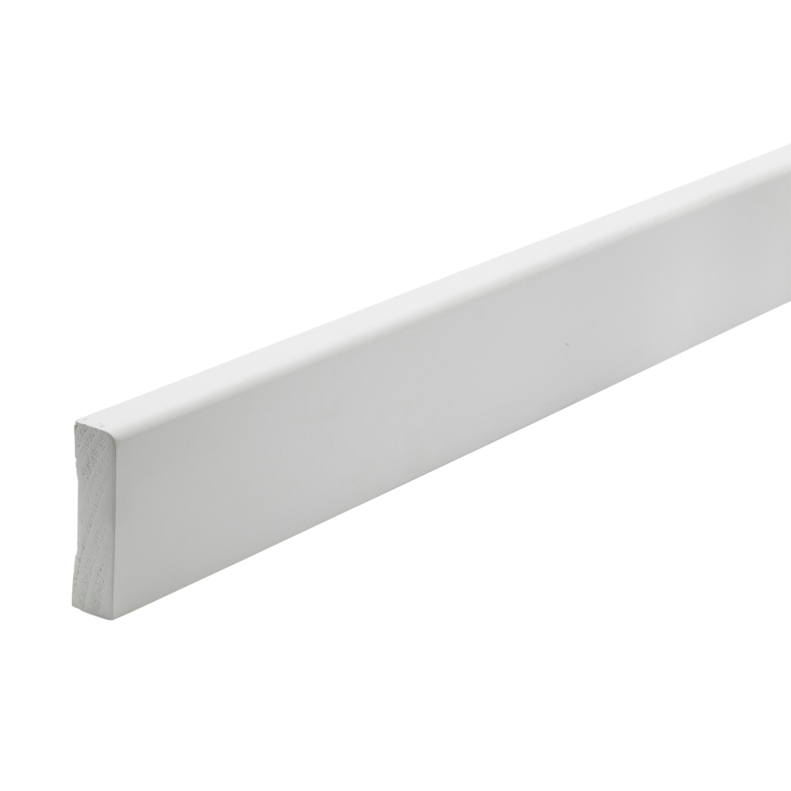 Woodhouse EdgeLine 66 x 18mm 5.4m Pencil Round White Primed Finger Jointed Pine Moulding