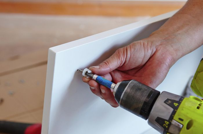 DIY Step Image - How to build a three drawer floor cupboard . Blob storage upload.