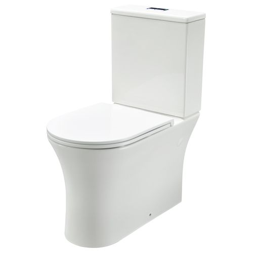 Mondella WELS 4 Star 3-4.5L/min White Signature Rimless Back To Wall Toilet Suite