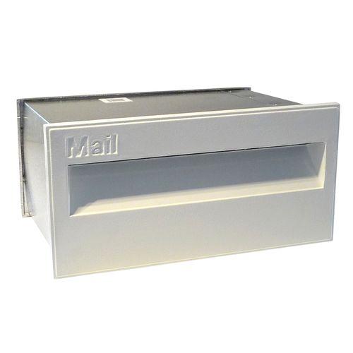 Velox 230mm Super Deluxe Back Open White Letterbox
