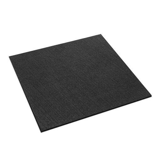 Ultimate Flooring 1 x 1m Rubber Gym Tile - Black