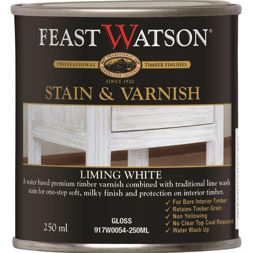Feast Watson 250ml Liming White Satin Stain & Varnish