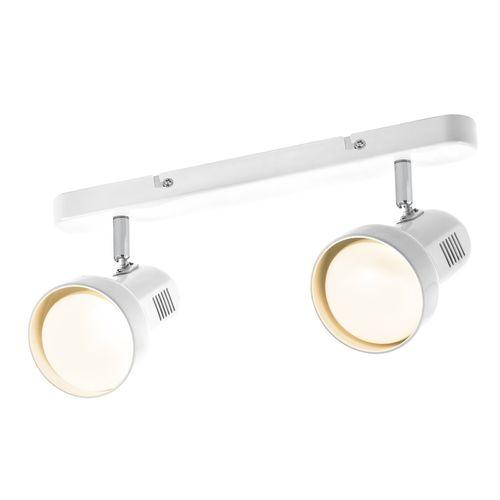 Verve 2 x R80 60W White Owen Ceiling Spotlight