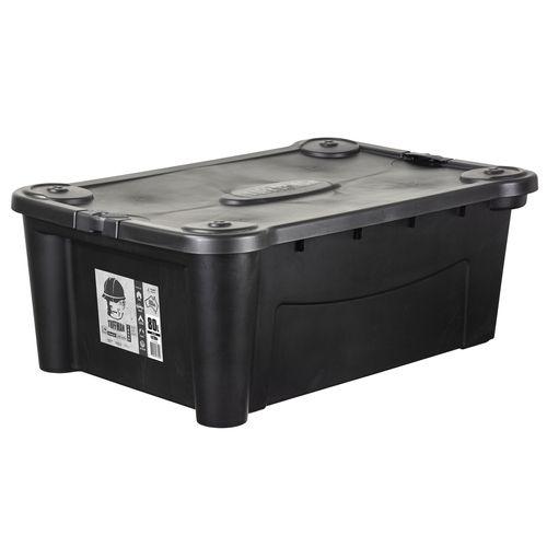 Icon Plastics 80L Black Tuffman Heavy Duty Storage Container