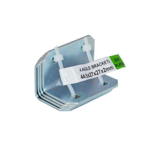 Carinya 44.5 x 27 x 27 x 2mm Zinc Plated Reinforcing Angle Bracket - 4 pack