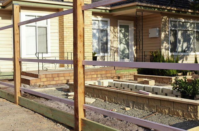 DIY Step Image - How to install a plinth and rails for a fence . Blob storage upload.