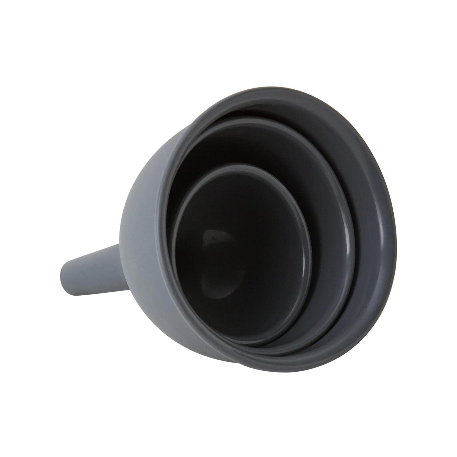 Kitchen Pro Oslo 3pc Silicone Funnel Set Charcoal