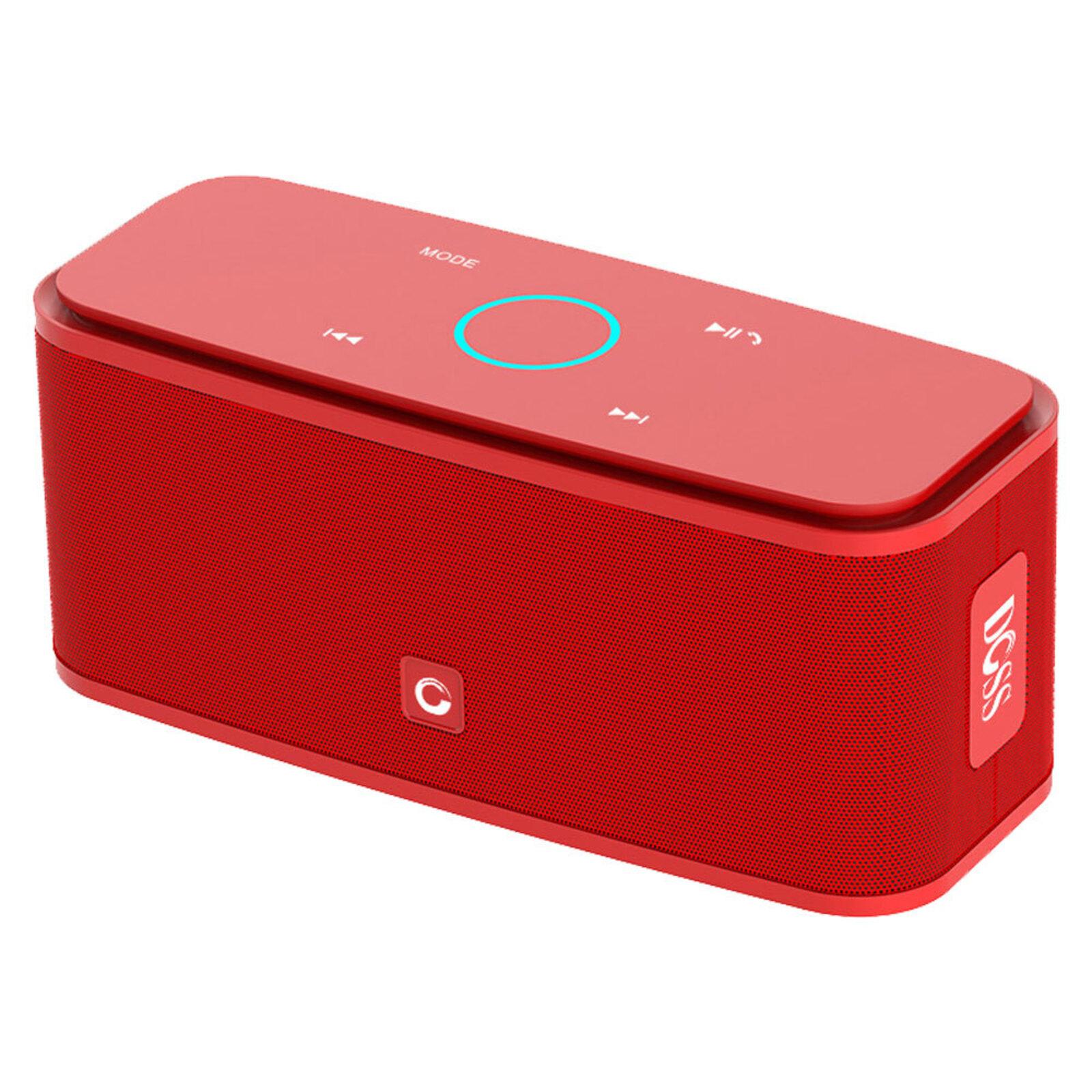Doss SoundBox 2200mAh 12W Bluetooth/Wireless Audio Speaker/Mic/Aux Input Red