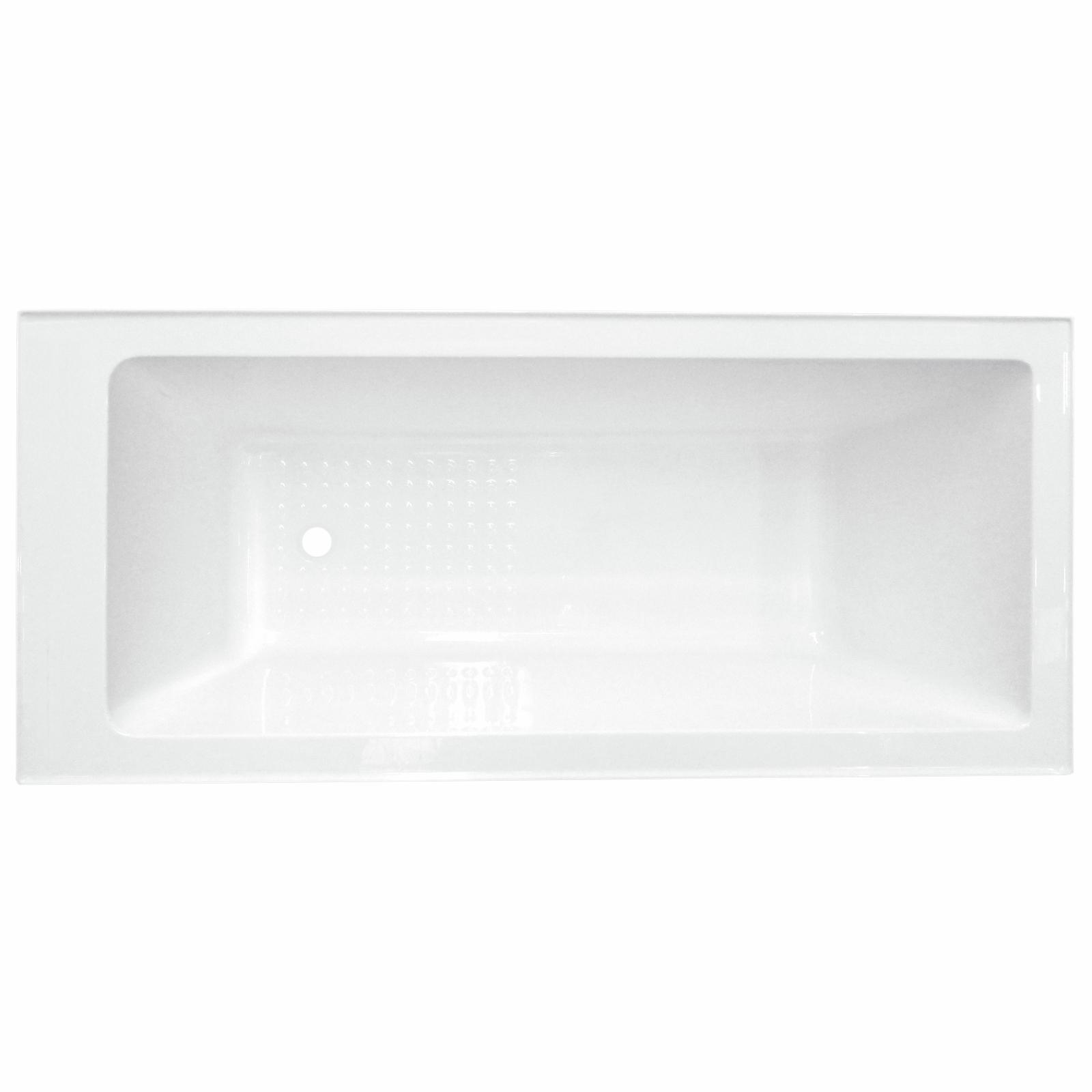 Mondella 1675mm White Gloss Resonance Acrylic Bathtub