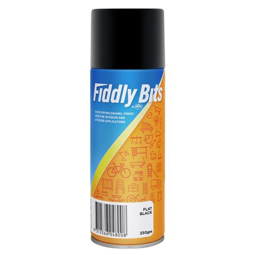 Fiddly Bits 250g Flat Black Spray Paint