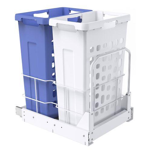 Kaboodle 2 x 35L Base Mount Laundry Hamper