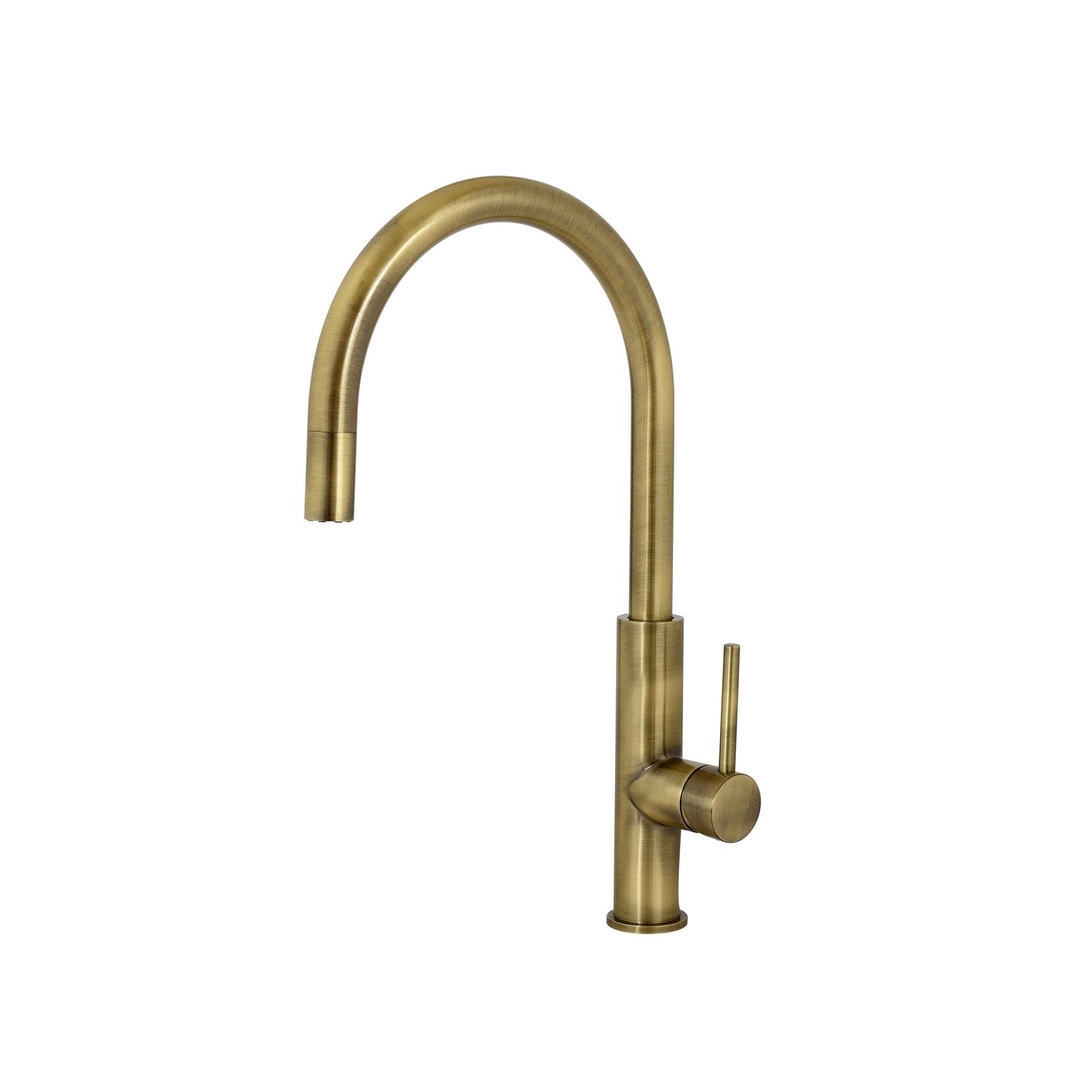 Aquatica Metalique Bronze Gooseneck Sink Mixer