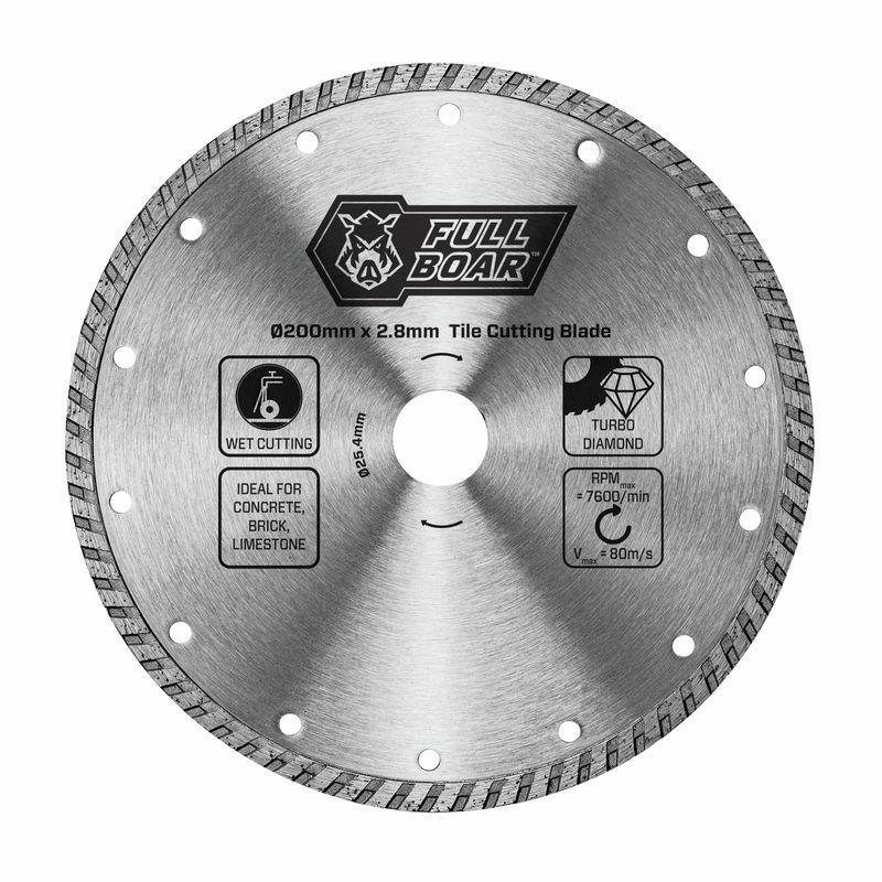 200mm Turbo Diamond Tile Cutting Blade