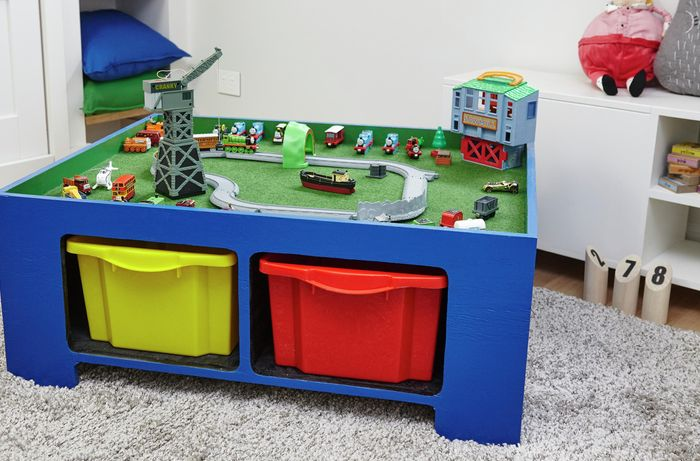 Kid's toy table in a child's bedroom