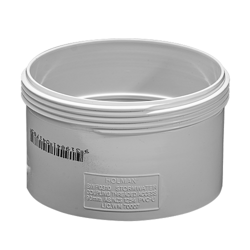 Holman 90mm PVC Stormwater Threaded Access Coupling