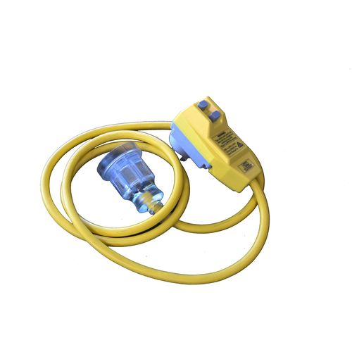 HPM 1.6m Yellow Extension Lead With Safety Switch