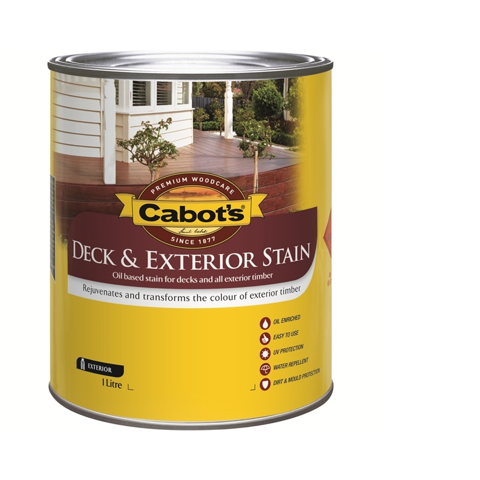 Cabot's Deck & Exterior Stain Oil Based 1L Charcoal