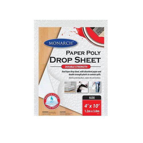 Monarch 4 x 10' Paper Poly Double Strength Drop Sheet