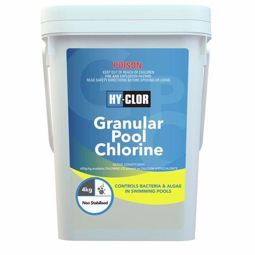 Hy-Clor 4kg Granular Pool Chlorine