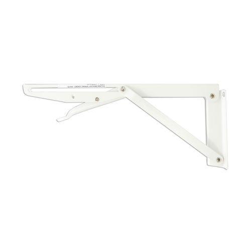 Carinya 250 x 115mm White Spring Loaded Folding Bracket