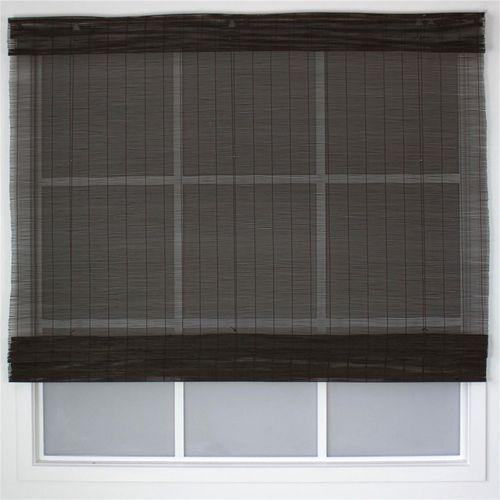 Windoware California Matchstick Indoor Roman Blind - 1200mm x 2100mm Mahogany
