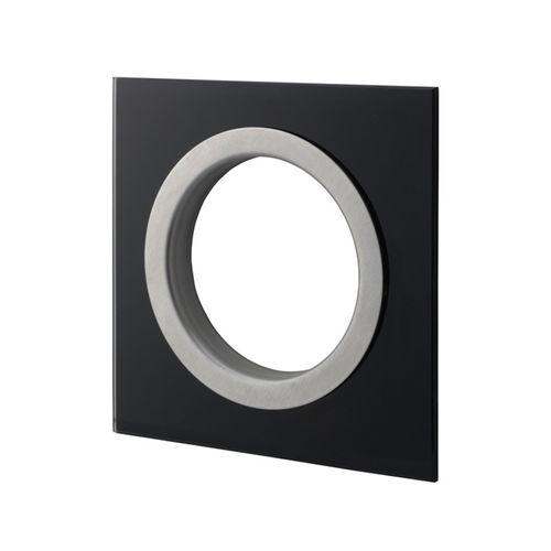 Sandleford Black Glass Square Newspaper Ring