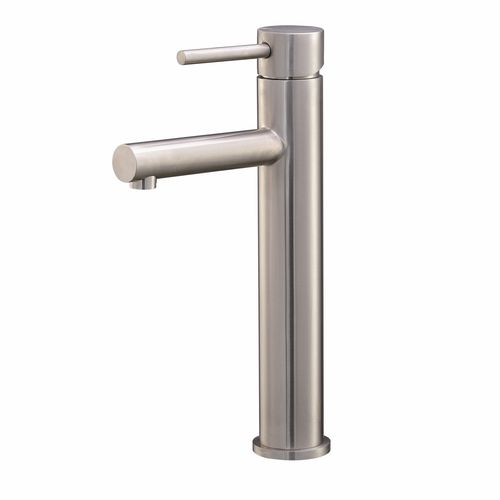 Mondella Stainless Steel Resonance Tall Pin Lever Basin Mixer - Suitable For Unequal / Mains Pressure