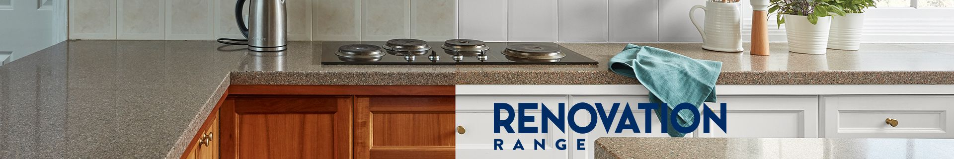 """Before and after of a kitchen renovation. """"Renovation range"""""""